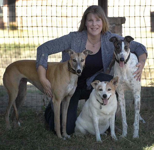 Stacy Pigott with her dogs